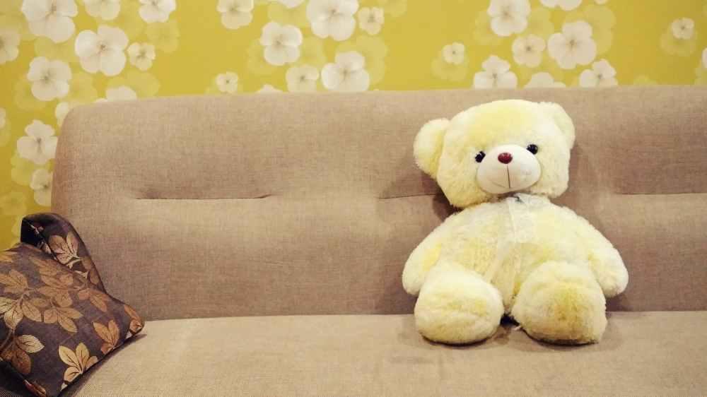 bear brown children toys cushion